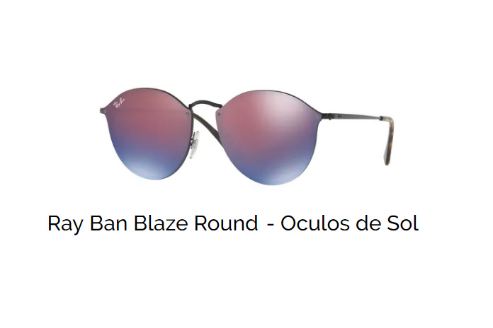 Ray Ban Blaze Round – Óculos de Sol   Ótica Fratelli 33790e3d7f